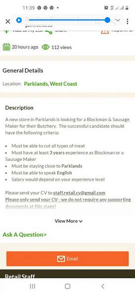 Gardena looking for part time job