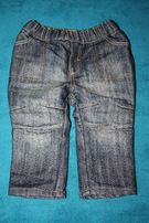 Теплые стильные джинсы на малыша