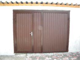 Гаражные металлические ворота. Гаражные ворота из профнастила