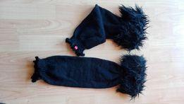 Ocieplacze na nogi SOXO czarne z futerkiem Nowe na zimę futerko