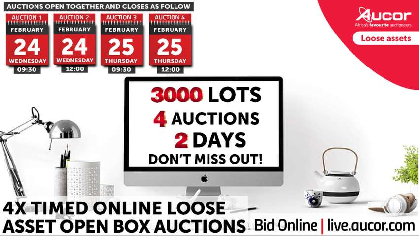 4x Timed Online Loose Asset Open Box Auctions