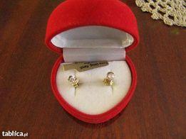 kolczyki złote z brylantami damskie