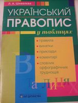 Український правопис у таблицях Шевелєва Л. А.