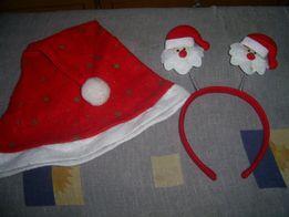 Новогодний набор (шапочка и рожки Санта Клаус)