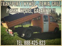 Transport i wywóz - ziemia,beton,gruz,piach,gabaryty,itp!!!