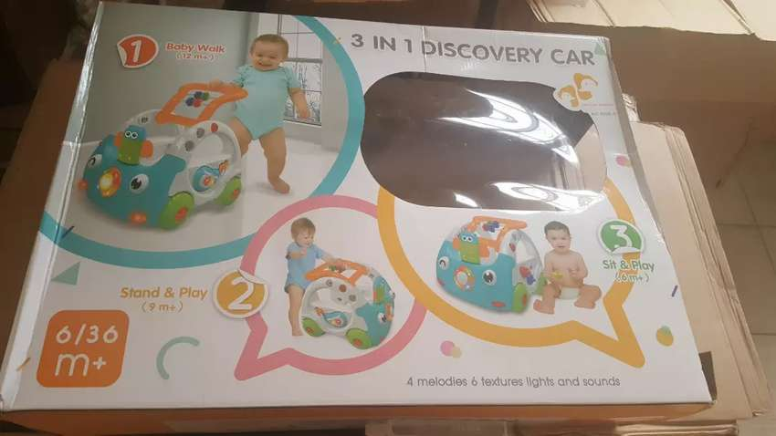 3 in 1 discovery car Baby Interactive Walker with Music and Lights 0