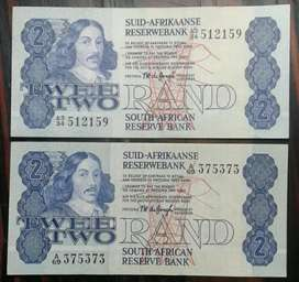 Nice set of x2 1970's R2 notes (Almost uncirculated)
