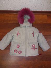 Зимняя куртка для девочки рост 104 см