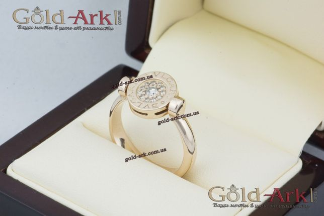 Золотое кольцо BVLGARI реплика Запорожье - изображение 2