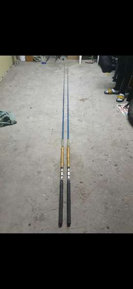 (X2) Vintage fishing rods in excellent condition