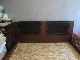 Кровать двуспальная натуральный шпон дерева