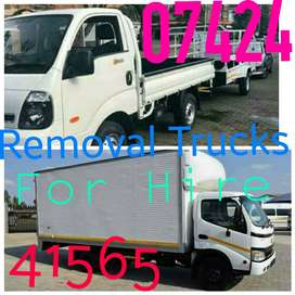 REMOVAL TRUCKS AND BAKKIES FOR HIRE