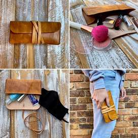 Genuine leather clucth bag