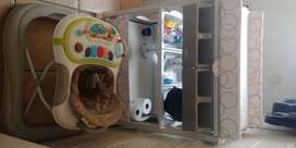 Both Titanium baby bath and changing unit + Bounce walking Ring