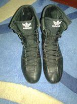 женские кожанные ботинки кроссовки adidas 41р