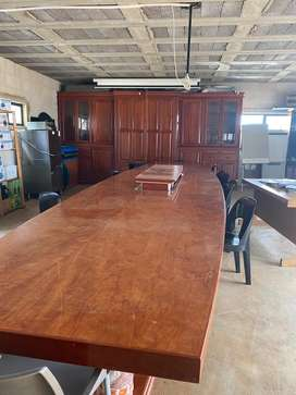 Boardroom Table and Wall unit