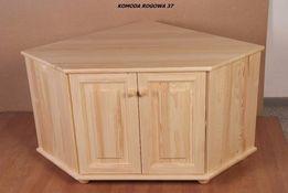 Komoda rogowa drewniana 37 sosnowa 90x73x90 od Lemag