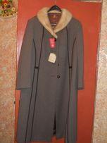Новое пальто, мех норки, р. 50