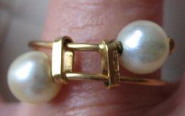 Pierścionek złoty z perłami - na zaręczyny, osiemnastkę!