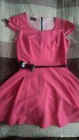 Różowa koktajlowa sukienka