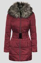 kurtka zimowa z futerkiem Orsay bordowa