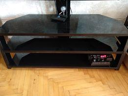 Тумба стеклянная под телевизор с кронштейном