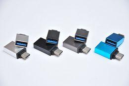 Переходник с Type C на USB A OTG для подключения флешки НОВОЕ