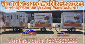For Sale Mobile Vip Portable Toilets Freezers Chillers Stretch Tents