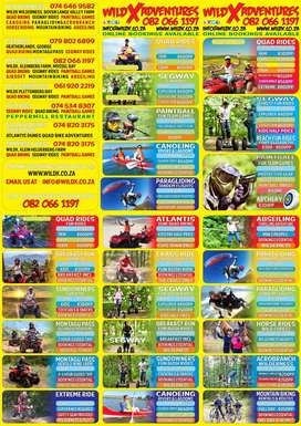 ADVENTURE ACTIVITIES & TOURISM - QUAD BIKING, SEGWAY RIDES, PAINTBALL
