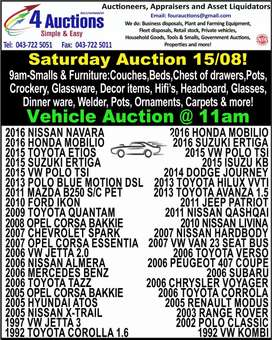 Saturday Auctions from 9am!