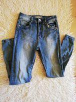 Spodnie jeansowe rozmiar S podwyższony stan