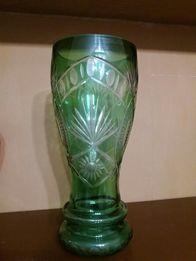 Zielony wazon PRL duży