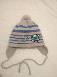 Зимняя шапка на мальчика на ОГ46-48