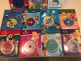Disney read along books with original movie voices and music CD