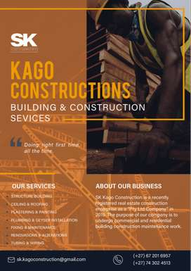 Building, Repairs, Renovations and Construction work