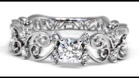 Open Butterfly Engagement Ring