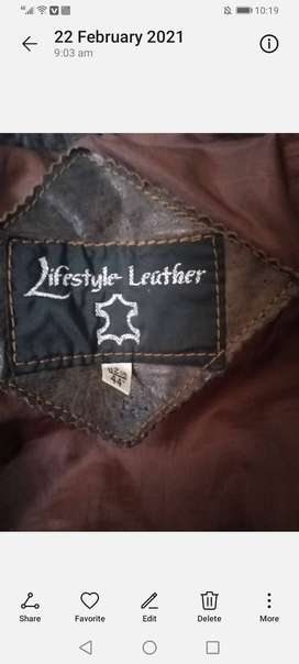 Leather jackets size 40 and 42