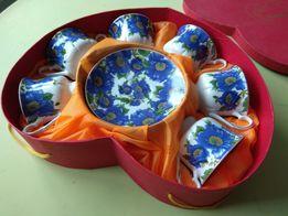 Подарочный кофейный набор чашки с блюдцами