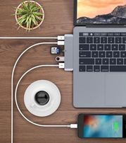 Адаптер HUB 6 in 1 MacBook Pro Type C USB 3.0 переходник Pixel Surface