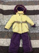 Зимний тёплый комбинезон на девочку 2-3 года Комбез куртка штаны