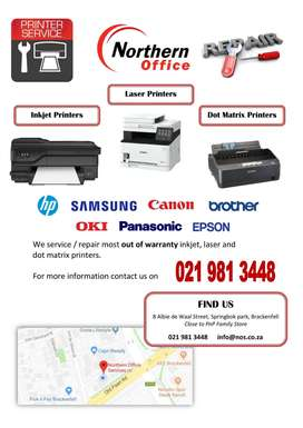 Inkjet and Laser Printer Repairs