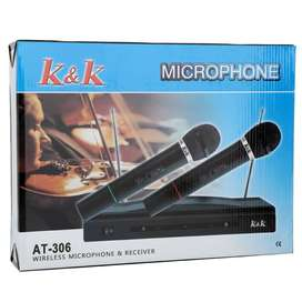 Professional Dual Wireless Microphone System.