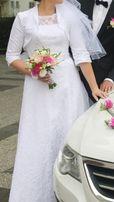 Suknia ślubna DŁUGA!!! + welon + bolerko