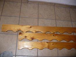 karnisz-karnisze drewniane duży i 2 małe