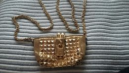 Orginalna Mała złota torebka Juicy Couture