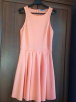 Brzoskwiniowa sukienka - Bershka