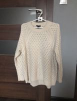 Nowy kremowy oversizowy sweter H&M. Sweter oversize