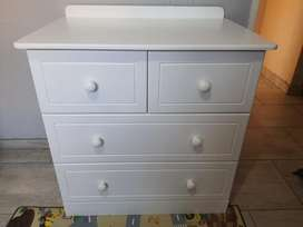 Excellent Wooden Cot and matching Compactum