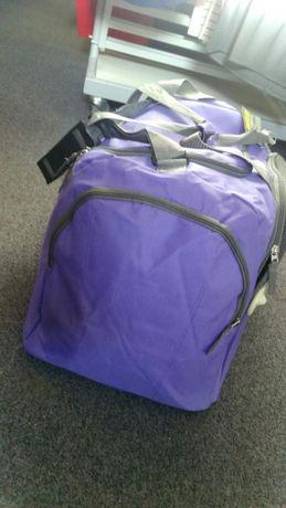 Torba podróżna duża dwa kolory fiolet granat nowa bagaż na podróż Hit Sierakowice - image 4