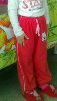 Штаны спортивные на девочку, рост 104, 3-4 года. Турция.